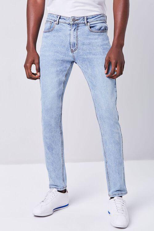 MEDIUM DENIM Stonewash Skinny Jeans, image 2