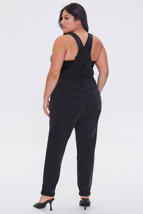 Plus Size Zip-Front Denim Overalls, image 3