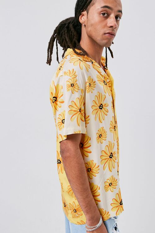 YELLOW/MULTI Classic Fit Floral Print Shirt, image 3