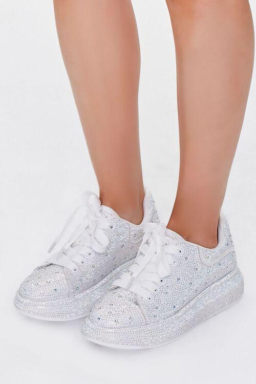 Rhinestone-Embellished Low-Top Sneakers, image 1