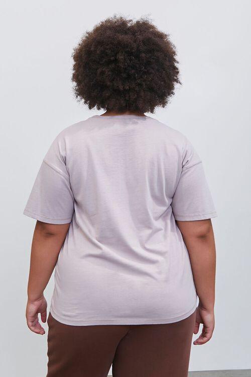 GREY Plus Size Embroidered Pantone Crew Tee, image 3