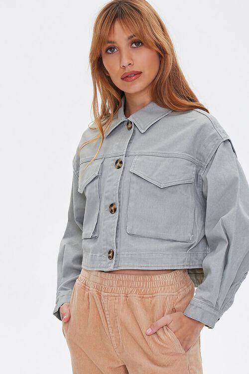 Cotton Button-Up Jacket, image 1