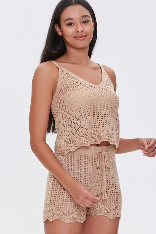 Crochet Cami & Shorts Set, image 1