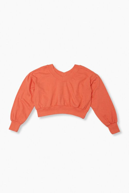 RED Active Cropped Pullover, image 1