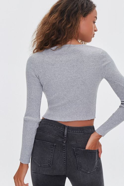 Ribbed Sweater-Knit Crop Top, image 3