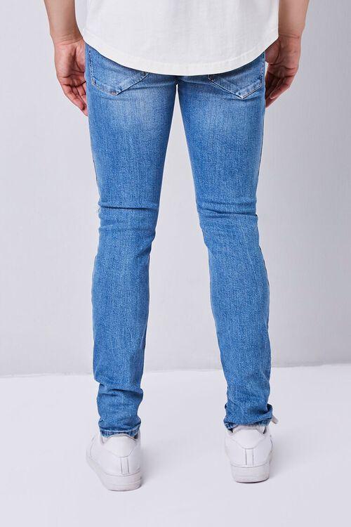 MEDIUM DENIM Premium Distressed Slim-Fit Jeans, image 3