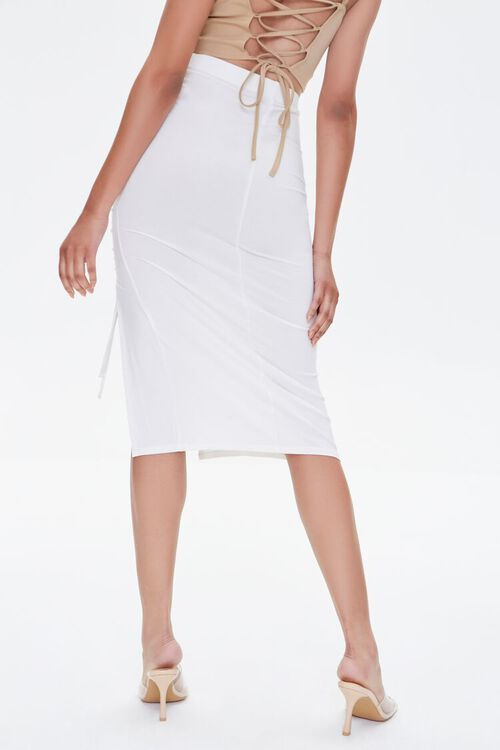 Ruched Drawstring Bodycon Midi Skirt, image 4