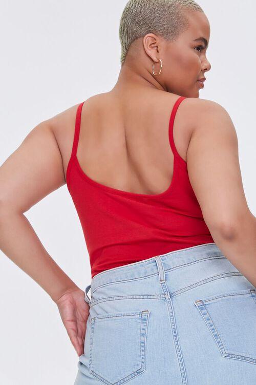 RED Plus Size Basic Organically Grown Cotton Bodysuit, image 3