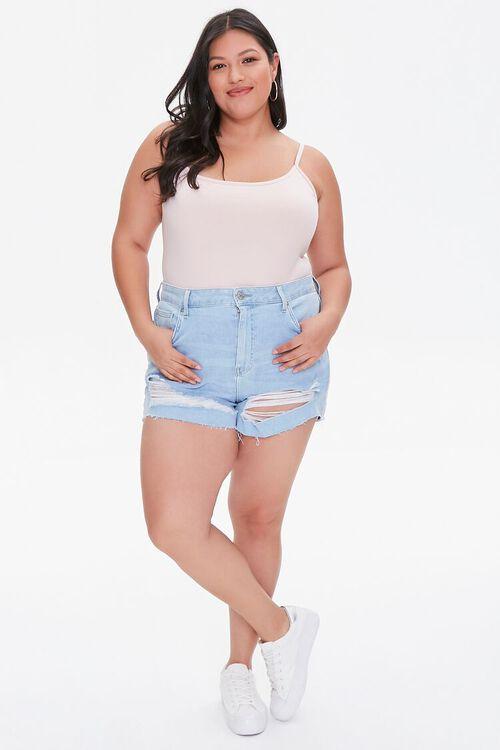 DUSTY PINK Plus Size Basic Organically Grown Cotton Bodysuit, image 4