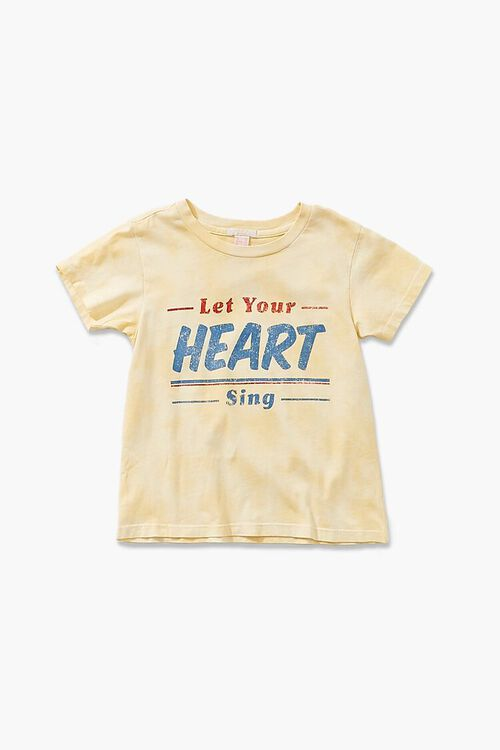 YELLOW/MULTI Girls Heart Sing Graphic Tee (Kids), image 1
