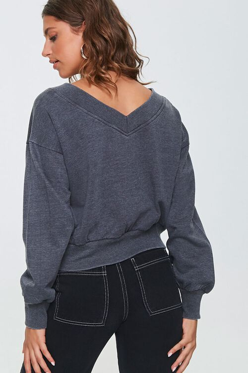 BLACK Active Cropped Pullover, image 3