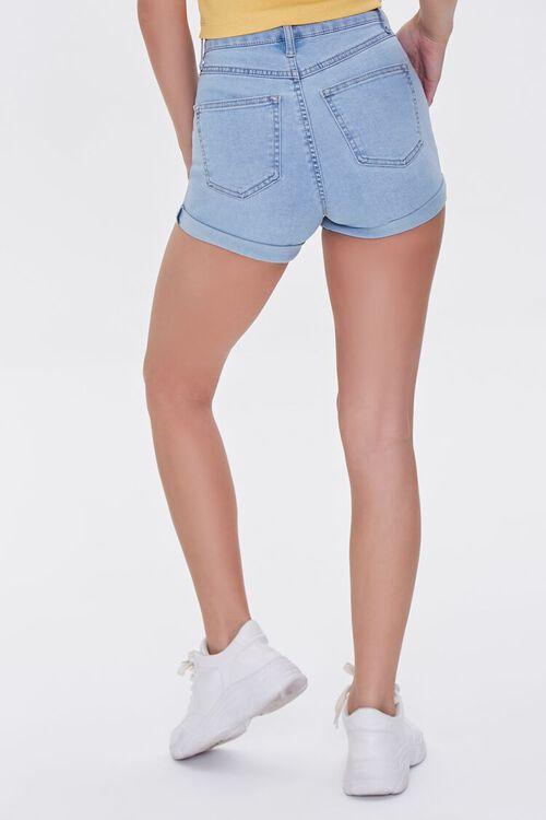 Denim Curvy Shorts, image 4
