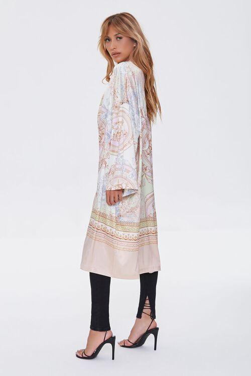 TAUPE/MULTI Ornate Baroque Print Duster Kimono, image 3