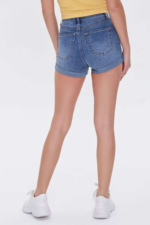 Denim Curvy Shorts, image 4