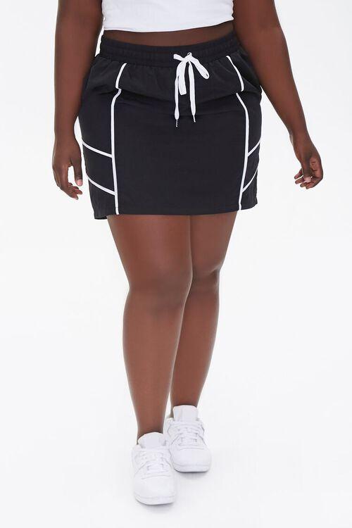 Plus Size Drawstring Mini Skirt, image 2
