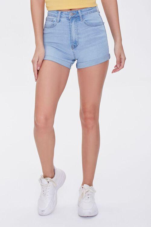 Denim Curvy Shorts, image 2