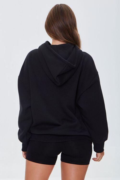 BLACK Fleece Drawstring Hoodie, image 3