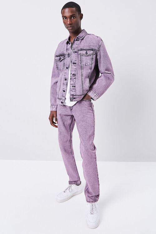 PINK/BLACK Stonewashed Slim-Fit Jeans, image 6