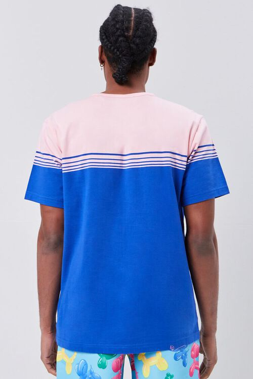 PINK/BLUE Striped Colorblock Tee, image 3