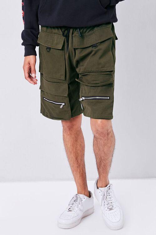 OLIVE Drawstring Dual Cargo Shorts, image 2