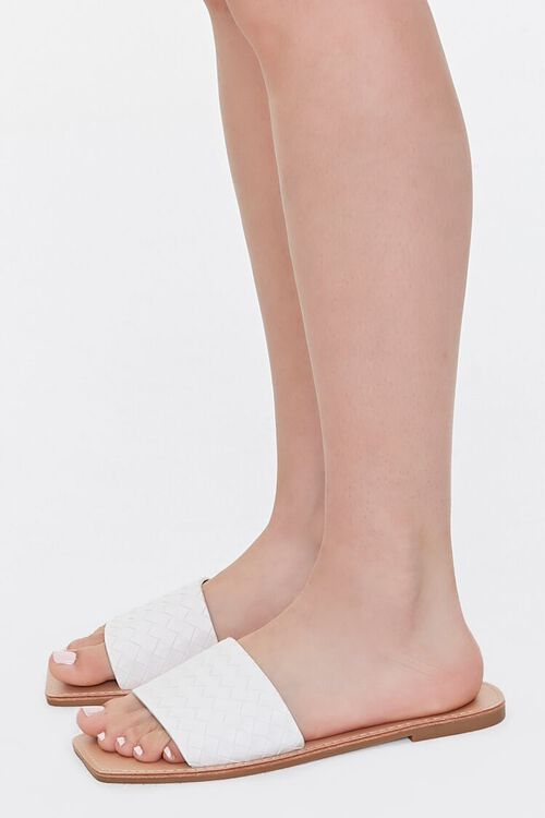 Basketwoven Square-Toe Sandals, image 2