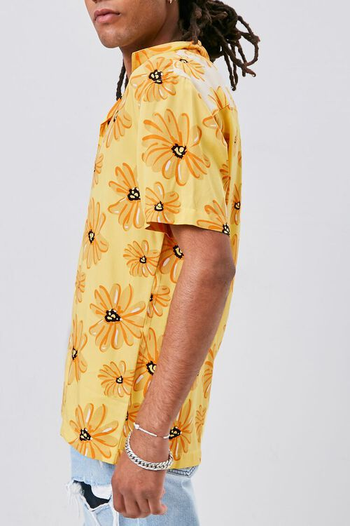 YELLOW/MULTI Classic Fit Floral Print Shirt, image 2