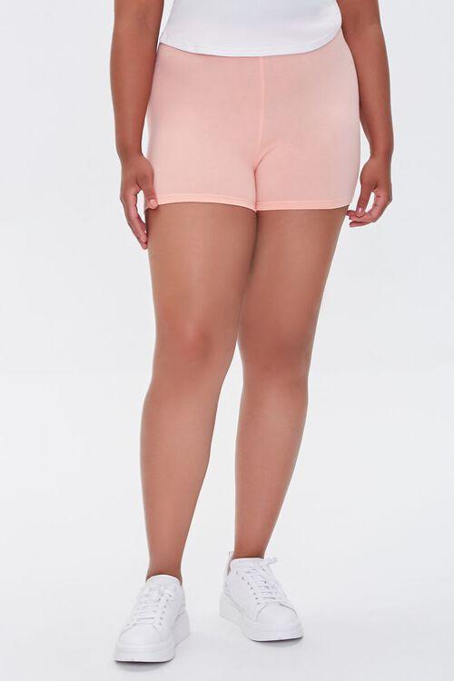 APRICOT Plus Size Basic Organically Grown Cotton Hot Shorts, image 2