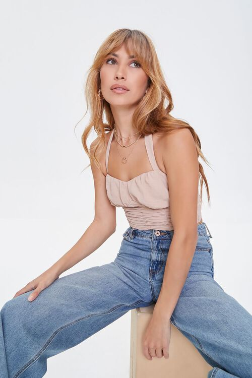 Sweetheart Knotted Halter Top, image 1
