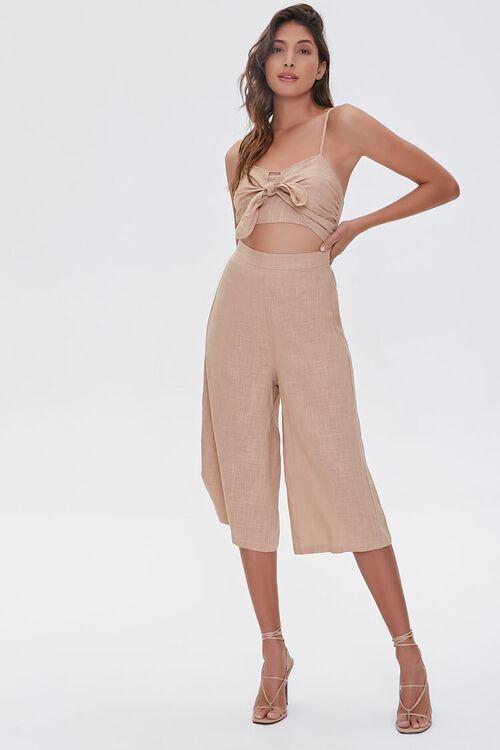 Knotted Cutout Culotte Jumpsuit, image 4