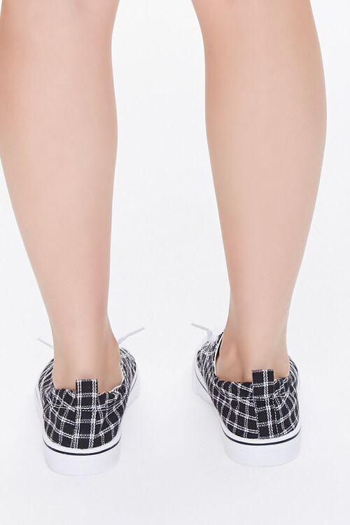 Plaid Canvas Low-Top Sneakers, image 3