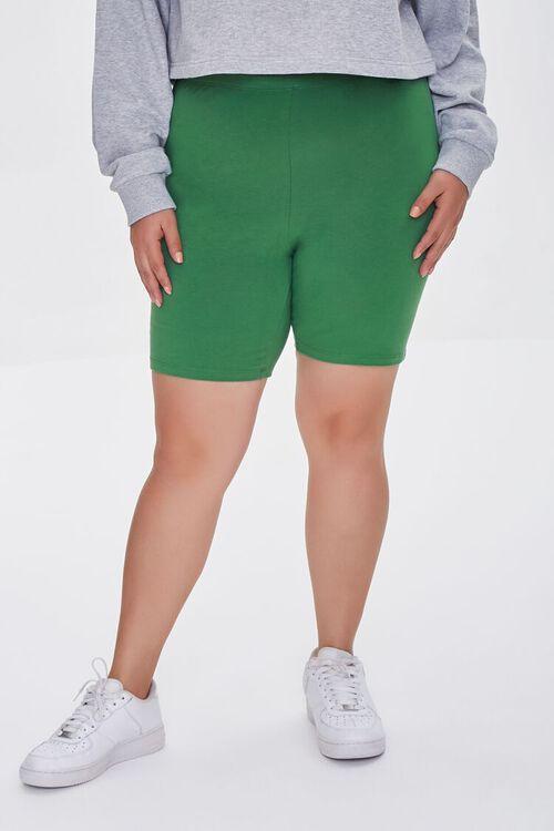JUNIPER Plus Size Organically Grown Cotton Basic Biker Shorts, image 2