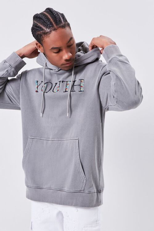Youth Embroidered Graphic Hoodie, image 1