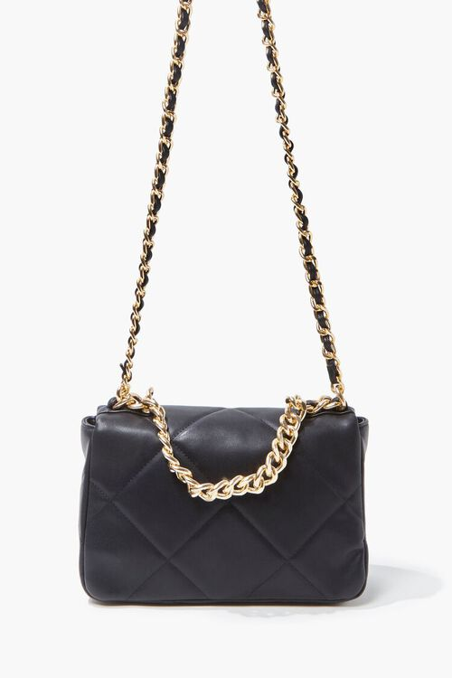 Quilted Faux Leather Crossbody Bag, image 3