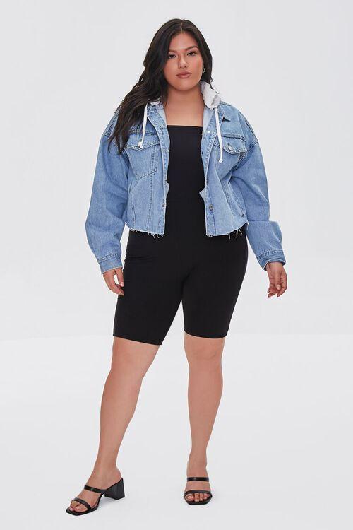Plus Size Hooded Denim Jacket, image 4