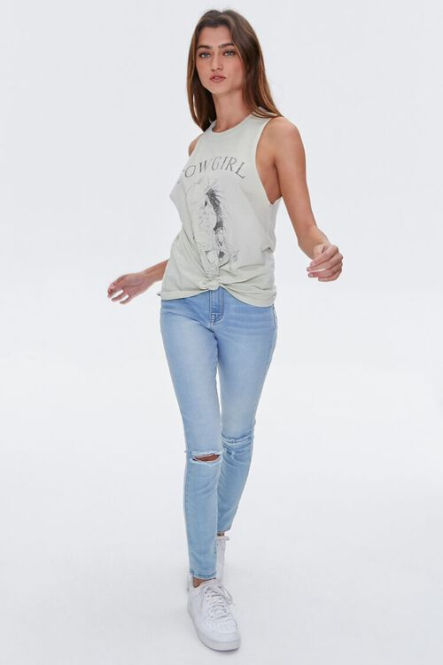 Cowgirl Graphic Muscle Tee, image 4