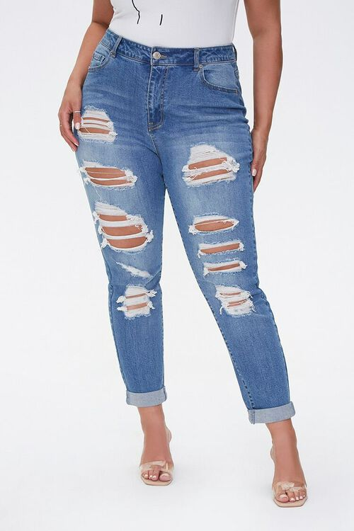 Plus Size Boyfriend Jeans, image 3