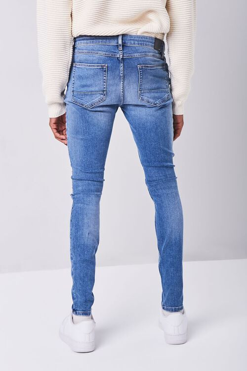MEDIUM DENIM Premium Distressed Skinny Jeans, image 4