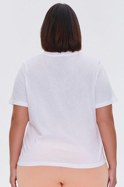 WHITE Plus Size Basic Organically Grown Cotton Tee, image 3