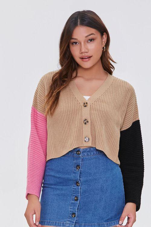 Colorblock Cardigan Sweater, image 5