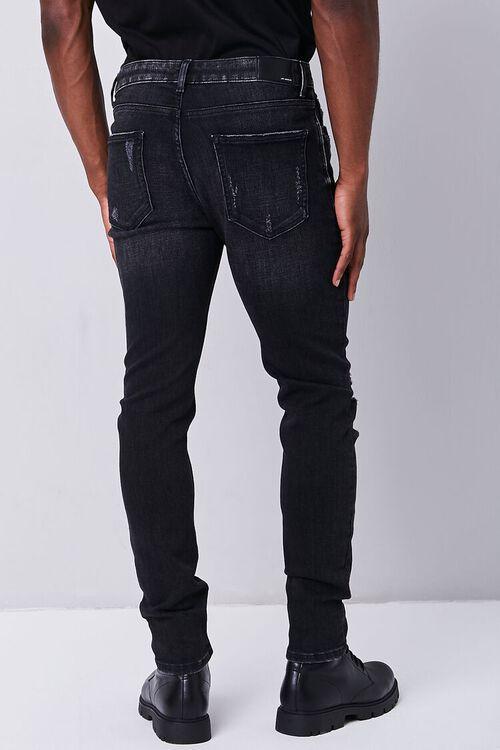 BLACK Distressed Slim-Fit Jeans, image 4