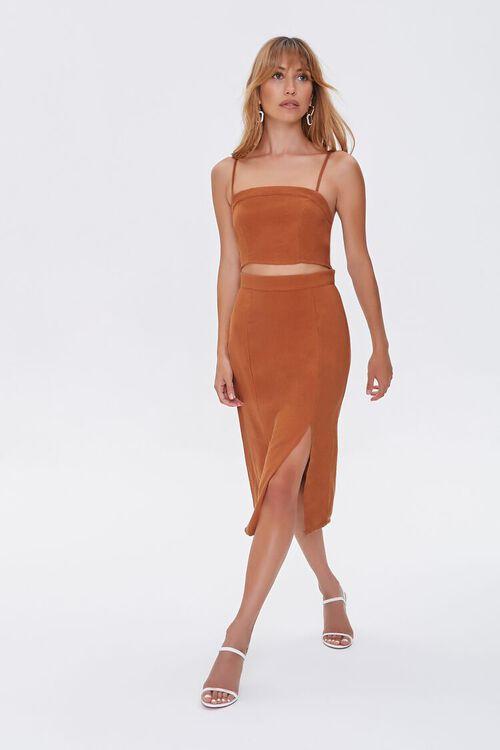 Cutout Side-Slit Midi Dress, image 1