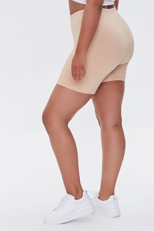 NUDE Plus Size Basic Organically Grown Cotton Biker Shorts, image 3