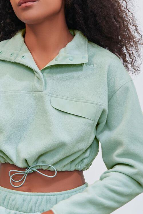 SAGE Pantone Fleece Cropped Pullover, image 5