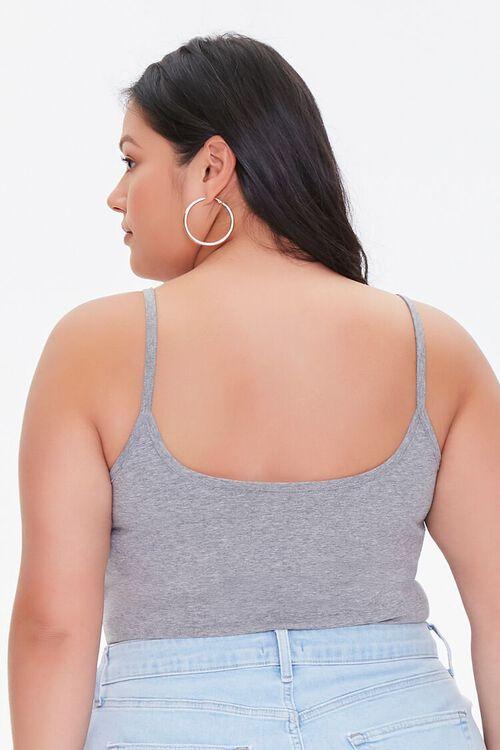 GREY Plus Size Basic Organically Grown Cotton Bodysuit, image 3