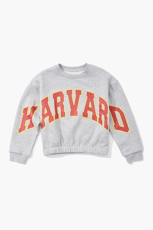 HEATHER GREY/MULTI Girls Harvard Graphic Pullover (Kids), image 1