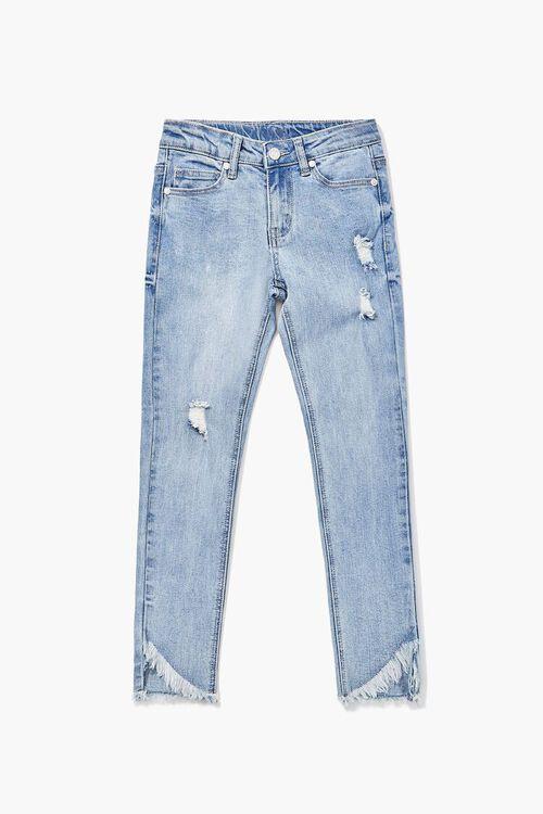Girls Distressed Frayed Jeans (Kids), image 1