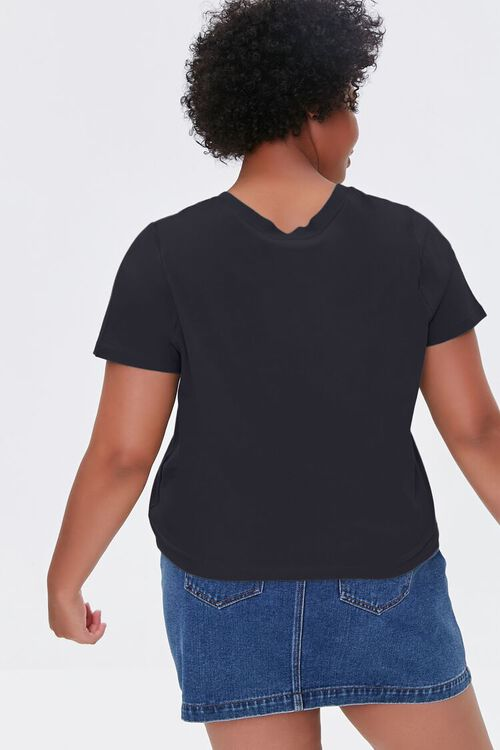 BLACK Plus Size Basic Organically Grown Cotton Tee, image 3