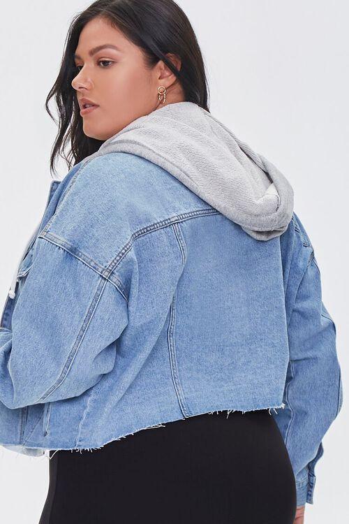 Plus Size Hooded Denim Jacket, image 3