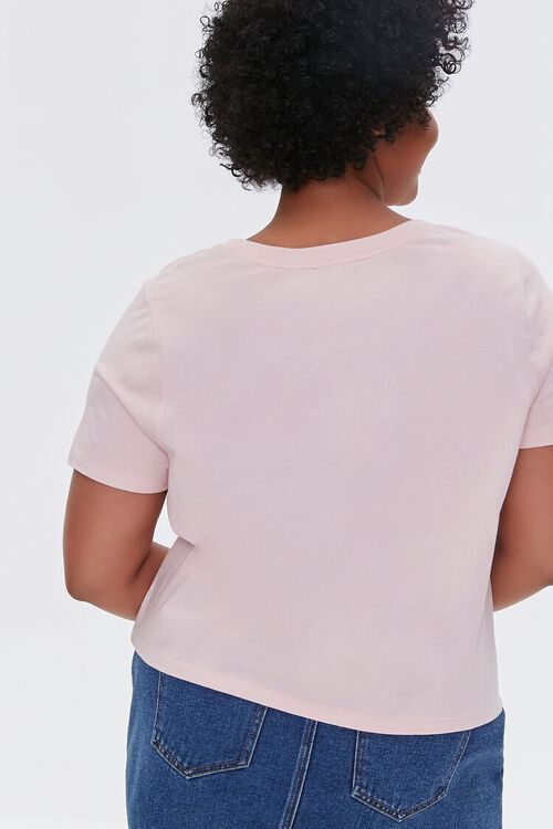 DUSTY PINK Plus Size Basic Organically Grown Cotton Tee, image 3