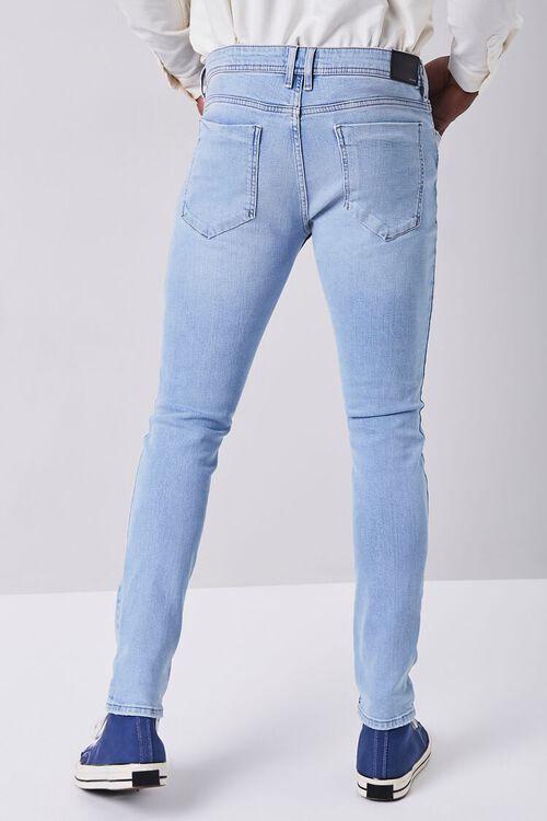 LIGHT DENIM Premium Distressed Slim-Fit Jeans, image 4